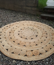 Jute Rug (120cm) - Hire Cost £12
