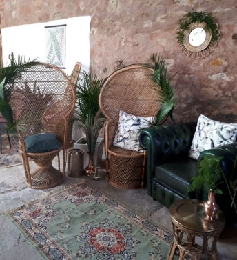 Peacock Chairs (2 large & 1 medium available) - Hire Cost £25/£20