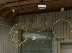 Bamboo hoop wedding decor fife scotland