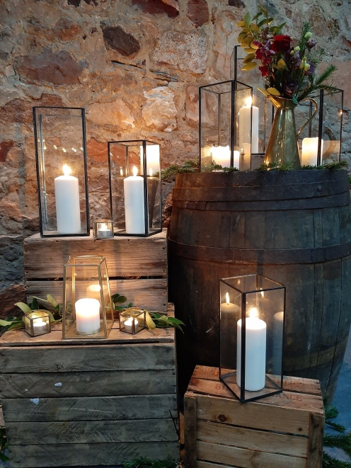 Black Metal Hurricane Lanterns (2 extra large, 5 Large & 4 small available) - Hire Cost Extra Large £6, Large £4, Small £2.50