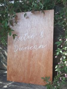 wedding signage custom fife perthshire scotland