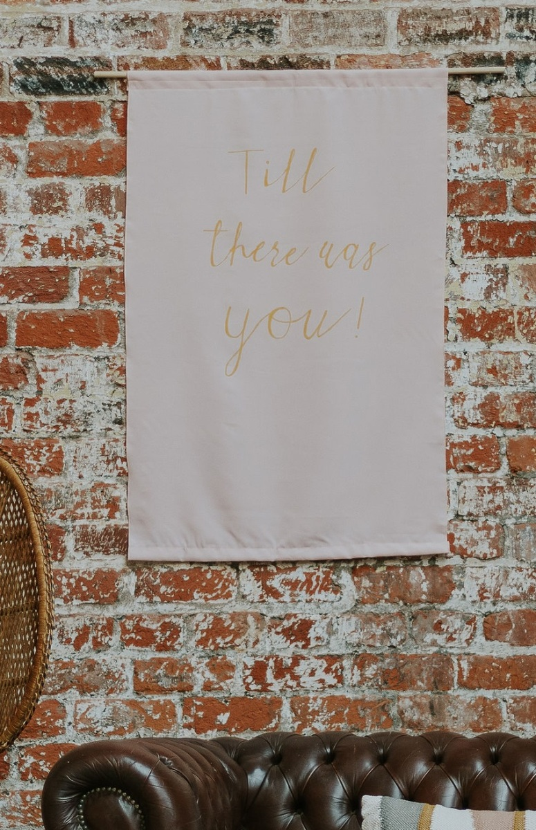 fabric banner hire for weddings