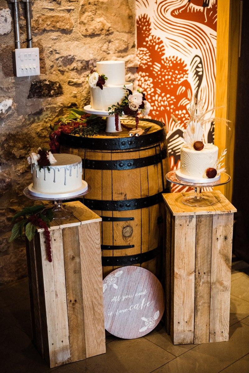 Wooden plinth wedding prop hire scotland