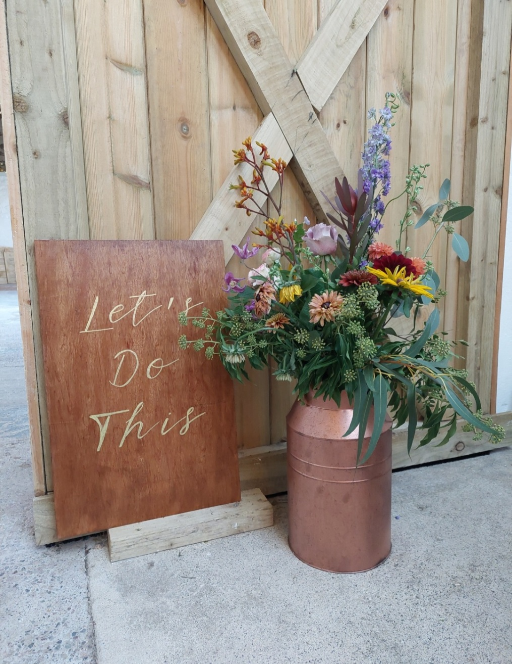 Let's Do This sign on wood - Hire Cost £8